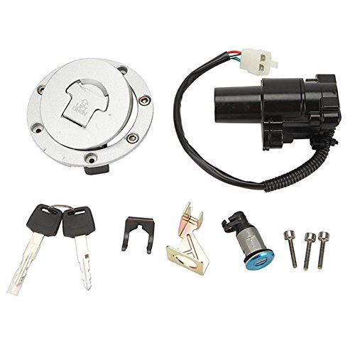 Innoglow Motorcycle Ignition Switch Key Fuel Gas Cap Cover Kit Seat Lock Key Set for Honda CBR600 CBR 600 F4 F4i (Gas Ignition Kit compare prices)
