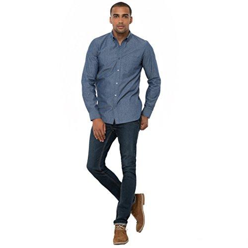 R Edition Uomo Jeans 5 Tasche Taglio Slim Taglia 46 Blu