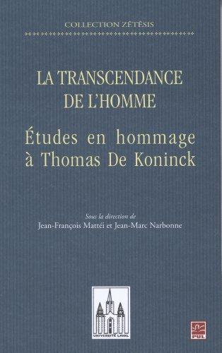 la-transcendance-de-lhomme-etudes-en-hommage-a-thomas-de-koninck