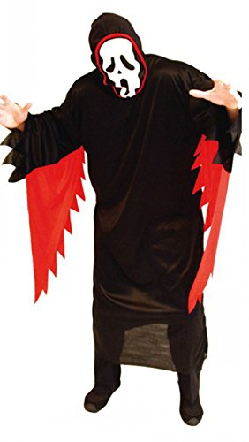 Treasure-box Adult Black and Red Ghost Costume Halloween