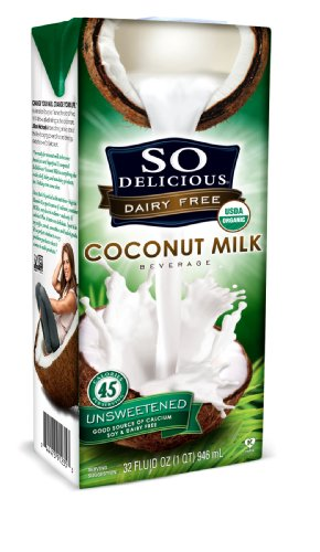 So Delicious Dairy Free - Organic Coconut Milk Beverage Organic Unsweetened,  32-Ounce (Pack of 6)