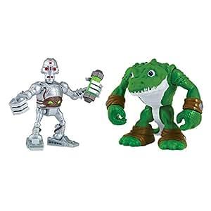 Teenage Mutant Ninja Turtles Teenage Mutant Ninja Turtles Pre Cool Half Shell Heroes Kraang and Leatherhead Figures