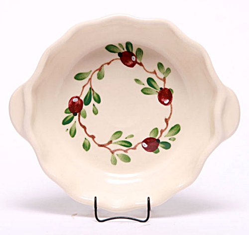 Emerson Creek Stoneware Brie Baker, Dinnerware Made in the USA (Cranberry)