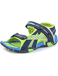 SRV Men's Freak Blue/Green Sandals & Floaters