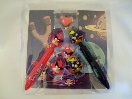 Angry Birds Clicker Flickers Pen and Flying Pen Tops Set