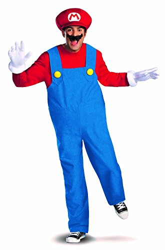 Disguise Super Mario Deluxe Mens Adult Costume,