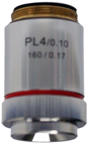 National Optical 704-160 4X Din Achromat Objective Lens, N.A. 0.10, For 160 Microscopes