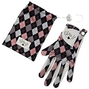 Glove It Pink and Grey Argyle Golf Glove (Hand=Right,Size=Small)
