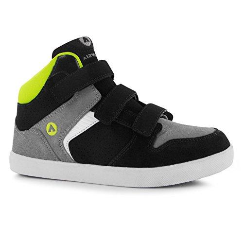 airwalk-dixon-kinder-jungen-mid-top-skate-schuhe-klettverschluss-turnschuhe-grey-black-lime-c13-32