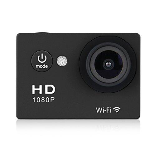 "Excelvan Y8-P Cámara Deportiva DV (2.0"" Pantalla LCD, Impermeable 30M, WiFi, 12MP, Full HD H.264, 1080P, 140°Gran Angular, USB HDMI TV), Negro"
