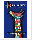 ポスター サヴィニャック Raymond Savignac エールフランス航空 Air France