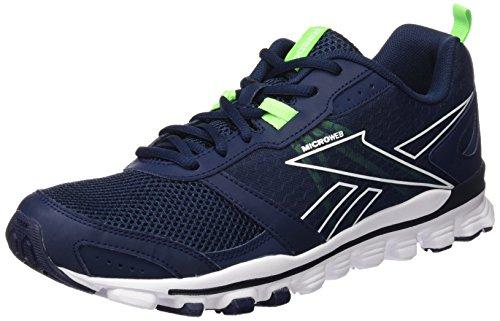 Reebok Hexaffect LE Run-Scarpa Da Jogging, Uomo, Multicolore (Azul / Verde / Blanco (Collegiate Navy / Solar Green / White)), 45 1/2