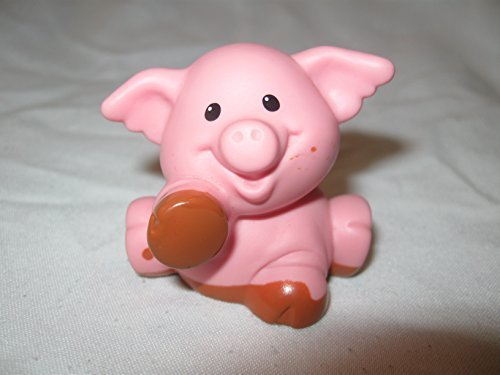 Fisher Price Little People Animal Farm Barn Zoo Nativity Replacement Light Brown Pink Muddy Paws Pig One Splatter Spot OOP 2007 - 1