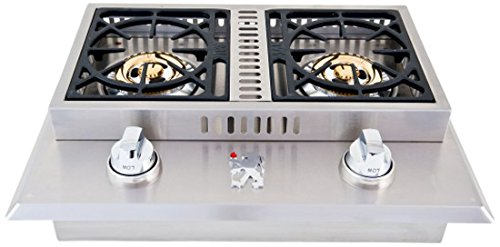 Lion-Premium-Grills-L1707-Propane-Gas-Double-Side-Burner-26-34-by-20-12-Inch