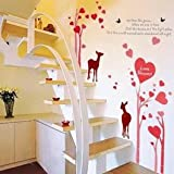 "UberLyfe ""Love In Bloom"" Wall Sticker For Living Room"