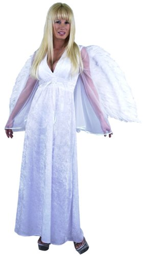 Women's Long Angel Costume Dress (Sz: Large 11-13)