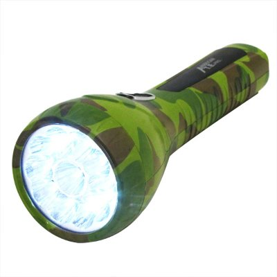 11 Large LED Camo Work Light Rechargeable Flash Light (Plugs Direct to Wall Socket)