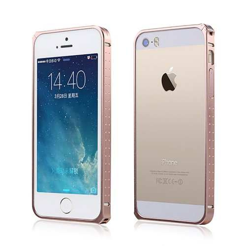 Moon Monkey Ultra-Thin Luxury Aluminium Alloy Metal Bumper Hard Case For Iphone 5 5S (Mm344) (Rose Gold)