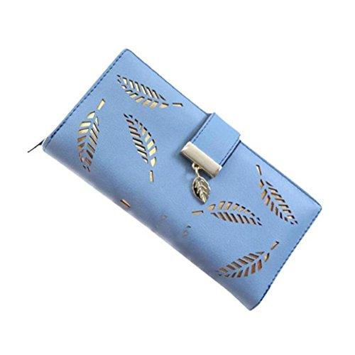 fami-fahion-femmes-purse-holder-clutch-carte-feuille-elegante-en-cuir-bleu
