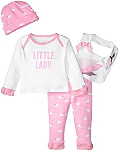 kate spade york Baby Girls Four-Piece Gift Box, Swan, 6M by Global Brands Group - Quidsi