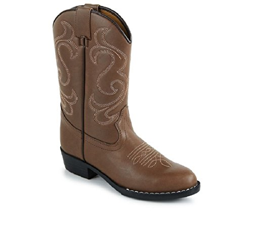trails toddler cowboy boots brown white 12