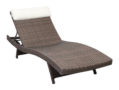 Atlantic 2-Piece Tahiti Deluxe Lounger Wicker Lounger Set, Brown - 2 pack picture