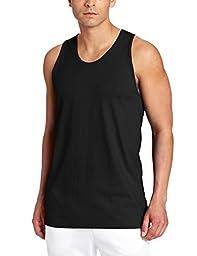 Russell Athletic Men\'s Basic Cotton Tank Top, Black, Medium