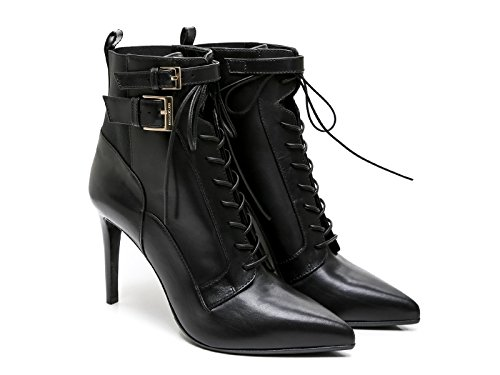 sergio-rossi-heeled-booties-in-black-leather-and-fabric-model-number-a70520-maf656-1000-size-6-uk