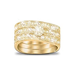 Amazon Three Band Ring With Champagne Colored Diamonds Champagne Celebration By The