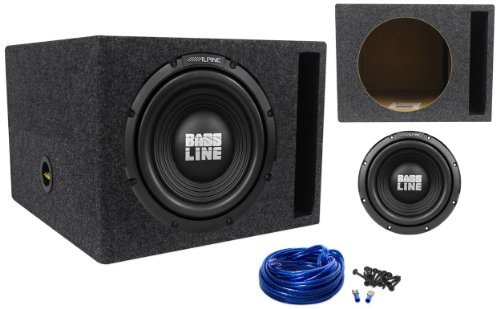 "Package: Alpine Swa-12S4 12"" 750 Watt Peak/250 Watt Rms Car Stereo Subwoofer + Rockville Rsv12Xl Single 12"" 1.6 Cu. Ft. Mdf Vented Subwoofer Enclosure + Single Enclosure Wire Kit With 14 Gauge Speaker Wire + Screws + Spade Terminals"