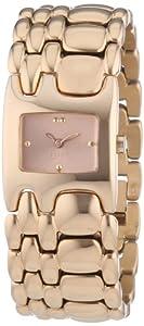 Esprit Damen-Armbanduhr Houston Delta Pure Rosegold Analog Quarz Edelstahl ES103902006