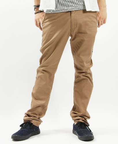 Chino pants work pants long Pant trousers casual L size beige