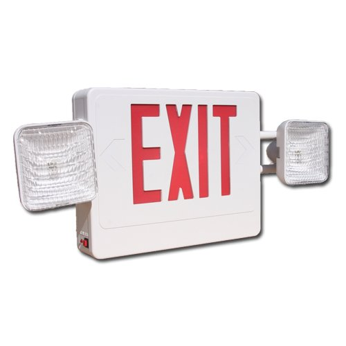 Best Lighting CXTEU2RW red LED combination exit sign and emergency light