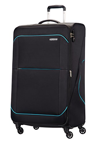 American Tourister Sunbeam Spinner 79/29 Valigia Espandibile, Poliestere, After Dark, 117 litri, 79 cm