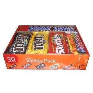 Deep Discount Center Chocolate Variety Pack Mixed Chocolate Bars and Candies 30 Bars