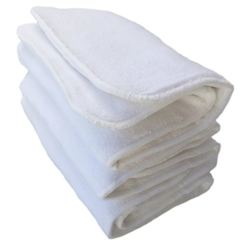 (Pack of 3) Teen / Adult 4 Layer Microfiber Inserts for Cloth Diapers