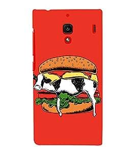 EPICCASE Cow Sandwich Mobile Back Case Cover For Xiaomi RedMi 1S (Designer Case)