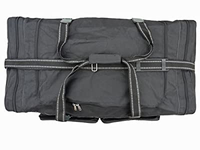 Extra Large Big Holdall Suitcase Size Travel Bag - 100 Litre Very Large Black Holdall - Multiple Pockets - Reinforced Handles & Long Strap - Huge Cargo Bags For Storage, Travel or Laundry - RL04