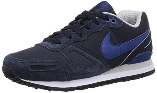 Nike Men's Air Waffle Trainer Leather Dark Obsidian/Gym Blue