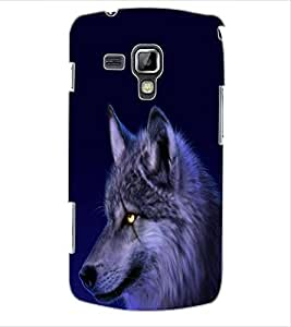 ColourCraft Scary Fox Look Design Back Case Cover for SAMSUNG GALAXY S DUOS S7562