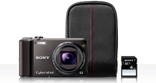 Sony Cyber-Shot DSC-H70 16.1 MP Digital Still Camera with 10x Wide-Angle Optical Zoom G Lens and 3.0-inch LCD (Black Bundle)