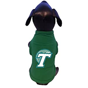 Buy NCAA Tulane Green Wave Cotton Lycra Dog Tank Top, Large by All Star Dogs