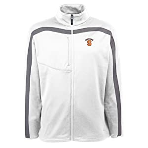 Syracuse Orangemen Jacket - NCAA Antigua Mens Viper Performance Jacket White by Antigua