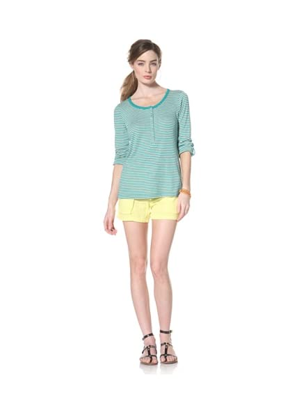 Splendid Women's Ribbed Henley