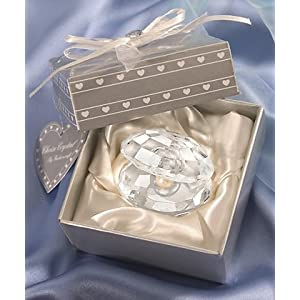 wedding reception decoration ideas, crystal oyster favor, seashell favor