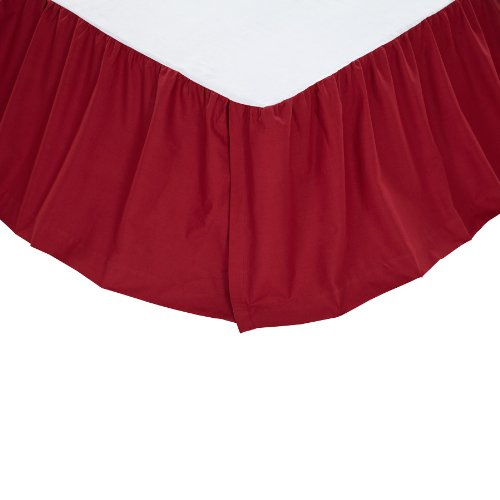 """Solid Red King Bed Skirt 78X80X16"""""""