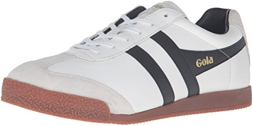 Gola Men's Harrier Leather Fashion Sneaker, White/Black/Gum, 9 UK/10 M US