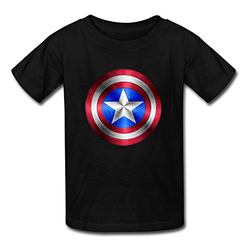 Kid's Sports Captain America Logo T-shirts By Mjensen