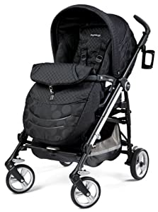Peg Perego Switch Four Stroller, Pois Black