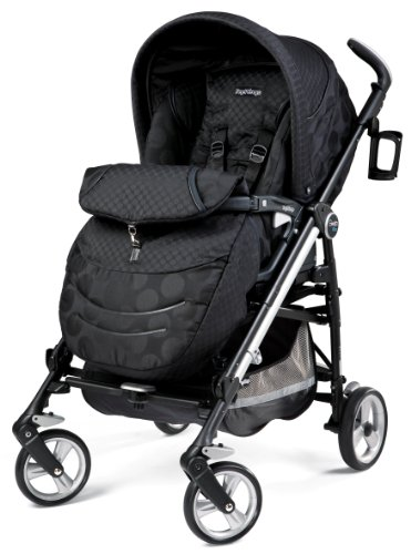 Peg Perego Switch Four Stroller Pois Black Great